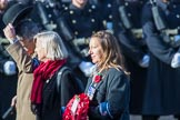 The Officers' Association  (Group F7, 3 members) during the Royal British Legion March Past on Remembrance Sunday at the Cenotaph, Whitehall, Westminster, London, 11 November 2018, 11:51.