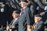 National Service Veterans Alliance (Group F8, 19 members) during the Royal British Legion March Past on Remembrance Sunday at the Cenotaph, Whitehall, Westminster, London, 11 November 2018, 11:51.