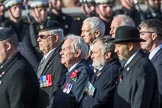 Gallantry Medallists' League (Group F9, 38 members) during the Royal British Legion March Past on Remembrance Sunday at the Cenotaph, Whitehall, Westminster, London, 11 November 2018, 11:51.