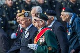 Suez Veterans' Association (Group F15, 32 members) during the Royal British Legion March Past on Remembrance Sunday at the Cenotaph, Whitehall, Westminster, London, 11 November 2018, 11:52.