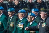 Irish United Nations Veterans Association  (Group F18, 14 members) during the Royal British Legion March Past on Remembrance Sunday at the Cenotaph, Whitehall, Westminster, London, 11 November 2018, 11:53.