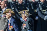 Canadian Veterans Association, UK (Group F19, 10 members) during the Royal British Legion March Past on Remembrance Sunday at the Cenotaph, Whitehall, Westminster, London, 11 November 2018, 11:53.