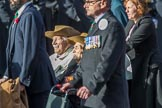 Chindit Society (Group F21, 15 members) during the Royal British Legion March Past on Remembrance Sunday at the Cenotaph, Whitehall, Westminster, London, 11 November 2018, 11:53.