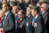 The Cheshire and North Wales Volunteer Decoration and Long Service Medallist's Association (Group F29, 24 members) during the Royal British Legion March Past on Remembrance Sunday at the Cenotaph, Whitehall, Westminster, London, 11 November 2018, 11:54.