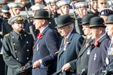 Regimental Association of The Rifles and The Royal Gloucestershire (Group A6, 33 members) during the Royal British Legion March Past on Remembrance Sunday at the Cenotaph, Whitehall, Westminster, London, 11 November 2018, 11:56.