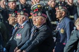 KOSB -The Kings Own Scottish Borderers Association (Group A9, 75 members) during the Royal British Legion March Past on Remembrance Sunday at the Cenotaph, Whitehall, Westminster, London, 11 November 2018, 11:57.