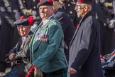 Queen's Own Highlanders Regimental Association (Group A11, 55 members) during the Royal British Legion March Past on Remembrance Sunday at the Cenotaph, Whitehall, Westminster, London, 11 November 2018, 11:57.