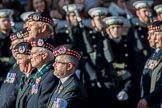 The Gordon Highlanders London Association (Group A12, 37 members) during the Royal British Legion March Past on Remembrance Sunday at the Cenotaph, Whitehall, Westminster, London, 11 November 2018, 11:58.