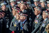 The Regimental Association of the Argyll and Sutherland High (Group A13, 50 members) during the Royal British Legion March Past on Remembrance Sunday at the Cenotaph, Whitehall, Westminster, London, 11 November 2018, 11:58.