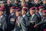 The Parachute Regimental Association (Group A21, 101 members) during the Royal British Legion March Past on Remembrance Sunday at the Cenotaph, Whitehall, Westminster, London, 11 November 2018, 11:59.