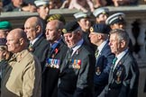 Green Howards Association (Group A22, 35 members) during the Royal British Legion March Past on Remembrance Sunday at the Cenotaph, Whitehall, Westminster, London, 11 November 2018, 11:59.