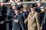 The King's Own Royal Border Regiment (Group A24, 80 members) during the Royal British Legion March Past on Remembrance Sunday at the Cenotaph, Whitehall, Westminster, London, 11 November 2018, 12:00.