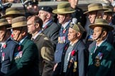 Gurkha Brigade Association (Group A25, 80 members) during the Royal British Legion March Past on Remembrance Sunday at the Cenotaph, Whitehall, Westminster, London, 11 November 2018, 12:00.