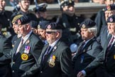 The Royal Hampshire Regimental Association (Group A27, 51 members) during the Royal British Legion March Past on Remembrance Sunday at the Cenotaph, Whitehall, Westminster, London, 11 November 2018, 12:01.