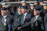 The Devonshire and Dorset Regimental Association (Group A33, 20 members) during the Royal British Legion March Past on Remembrance Sunday at the Cenotaph, Whitehall, Westminster, London, 11 November 2018, 12:02.