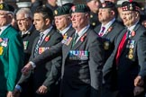 The Regimental Association of The Ulster Defence Regiment (Group A38, 83 members) during the Royal British Legion March Past on Remembrance Sunday at the Cenotaph, Whitehall, Westminster, London, 11 November 2018, 12:03.