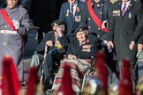 Blind Veterans UK (Group AA7, 215 members) during the Royal British Legion March Past on Remembrance Sunday at the Cenotaph, Whitehall, Westminster, London, 11 November 2018, 12:04.