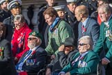 Blind Veterans UK (Group AA7, 215 members) during the Royal British Legion March Past on Remembrance Sunday at the Cenotaph, Whitehall, Westminster, London, 11 November 2018, 12:05.