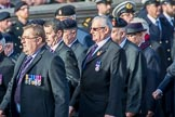 Royal Army Ordnance Corps Association (Group B1, 33 members) during the Royal British Legion March Past on Remembrance Sunday at the Cenotaph, Whitehall, Westminster, London, 11 November 2018, 12:05.