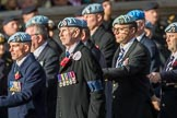 Army Air Corps Veteran Association (Group B7, 42 members) during the Royal British Legion March Past on Remembrance Sunday at the Cenotaph, Whitehall, Westminster, London, 11 November 2018, 12:07.