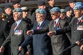 7 Regiment Army Air Corps (Volunteers) Association (Group B9, 13 members) during the Royal British Legion March Past on Remembrance Sunday at the Cenotaph, Whitehall, Westminster, London, 11 November 2018, 12:07.