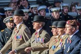 The King's Royal Hussars Regimental Association  (Group B21, 100 members) during the Royal British Legion March Past on Remembrance Sunday at the Cenotaph, Whitehall, Westminster, London, 11 November 2018, 12:10.
