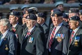 The 16th/5th Queen's Royal Lancers OCA (Group B23, 39 members) during the Royal British Legion March Past on Remembrance Sunday at the Cenotaph, Whitehall, Westminster, London, 11 November 2018, 12:11.