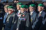 Intelligence Corps Association (Group B29, 35 members) during the Royal British Legion March Past on Remembrance Sunday at the Cenotaph, Whitehall, Westminster, London, 11 November 2018, 12:12.