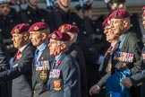 Airborne Engineers Association (Group B31, 20 members) during the Royal British Legion March Past on Remembrance Sunday at the Cenotaph, Whitehall, Westminster, London, 11 November 2018, 12:12.