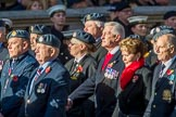Royal Air Forces Association (Group C1, 155 members) during the Royal British Legion March Past on Remembrance Sunday at the Cenotaph, Whitehall, Westminster, London, 11 November 2018, 12:14.