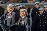 Royal Air Force Police Association (Group C2, 60 members) during the Royal British Legion March Past on Remembrance Sunday at the Cenotaph, Whitehall, Westminster, London, 11 November 2018, 12:14.