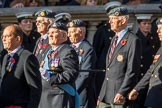 National Service(Royal Air Force)Association (NS(RAF)A) (Group C5, 39 members) during the Royal British Legion March Past on Remembrance Sunday at the Cenotaph, Whitehall, Westminster, London, 11 November 2018, 12:15.