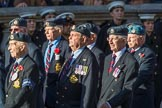 National Service(Royal Air Force)Association (NS(RAF)A) (Group C5, 39 members) during the Royal British Legion March Past on Remembrance Sunday at the Cenotaph, Whitehall, Westminster, London, 11 November 2018, 12:15