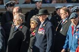 7 Squadron Association (Group C8, 20 members) during the Royal British Legion March Past on Remembrance Sunday at the Cenotaph, Whitehall, Westminster, London, 11 November 2018, 12:15.