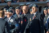 Royal Air Force Mountain Rescue Association (Group C12, 32 members) during the Royal British Legion March Past on Remembrance Sunday at the Cenotaph, Whitehall, Westminster, London, 11 November 2018, 12:16.