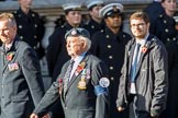RAF Airfield Squadron Branch Association s (Group C14, 12 members) during the Royal British Legion March Past on Remembrance Sunday at the Cenotaph, Whitehall, Westminster, London, 11 November 2018, 12:16..