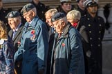Units of the Far East Air Force (Group C13, 18 members) during the Royal British Legion March Past on Remembrance Sunday at the Cenotaph, Whitehall, Westminster, London, 11 November 2018, 12:16.