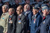 Coastal Command and Maritime Air Association (CCMAA) (Group C18, 21 members) during the Royal British Legion March Past on Remembrance Sunday at the Cenotaph, Whitehall, Westminster, London, 11 November 2018, 12:17