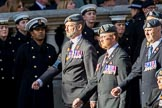Royal Air Forces Association Armourers Branch (Group C26, 45 members) during the Royal British Legion March Past on Remembrance Sunday at the Cenotaph, Whitehall, Westminster, London, 11 November 2018, 12:18.