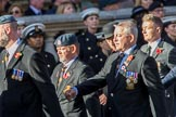 Royal Air Forces Association Armourers Branch (Group C26, 45 members) during the Royal British Legion March Past on Remembrance Sunday at the Cenotaph, Whitehall, Westminster, London, 11 November 2018, 12:18..