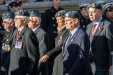 202 Squadron Association (Group C28, 16 members) during the Royal British Legion March Past on Remembrance Sunday at the Cenotaph, Whitehall, Westminster, London, 11 November 2018, 12:19.