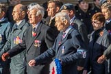 84 Squadron Association (Group C29, 15 members) during the Royal British Legion March Past on Remembrance Sunday at the Cenotaph, Whitehall, Westminster, London, 11 November 2018, 12:19.