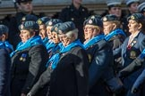 WRAF Branch of the Royal Air Forces Association (Group C30, 80 members) during the Royal British Legion March Past on Remembrance Sunday at the Cenotaph, Whitehall, Westminster, London, 11 November 2018, 12:19.