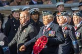 41 Squadron Association (Group C33, 9 members) during the Royal British Legion March Past on Remembrance Sunday at the Cenotaph, Whitehall, Westminster, London, 11 November 2018, 12:19.