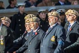 The RAF Masirah & RAF Salalah Veterans Association (Group C35, 20 members) during the Royal British Legion March Past on Remembrance Sunday at the Cenotaph, Whitehall, Westminster, London, 11 November 2018, 12:19..