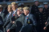 The RAF Masirah & RAF Salalah Veterans Association (Group C35, 20 members) during the Royal British Legion March Past on Remembrance Sunday at the Cenotaph, Whitehall, Westminster, London, 11 November 2018, 12:19.