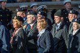 Royal Observer Corps Association (Group C38, 67 members) during the Royal British Legion March Past on Remembrance Sunday at the Cenotaph, Whitehall, Westminster, London, 11 November 2018, 12:20.