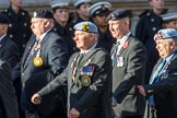 Northern Ireland Veteran's Association  (Group D2, 36 members) during the Royal British Legion March Past on Remembrance Sunday at the Cenotaph, Whitehall, Westminster, London, 11 November 2018, 12:20.