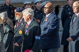 Stoll (Group D3, 18 members) during the Royal British Legion March Past on Remembrance Sunday at the Cenotaph, Whitehall, Westminster, London, 11 November 2018, 12:20.