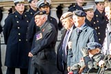 Association  of Jewish Ex-Servicemen and Women (Group D4, 27 members) during the Royal British Legion March Past on Remembrance Sunday at the Cenotaph, Whitehall, Westminster, London, 11 November 2018, 12:21.